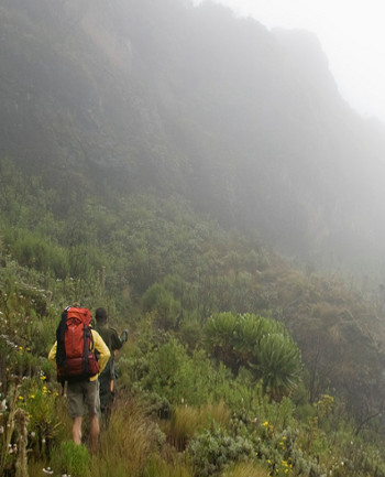 Climbing Mount Elgon...