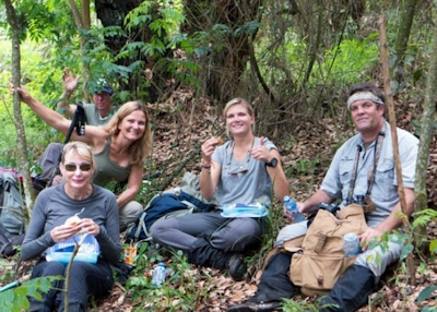 lunch in bwindi forest