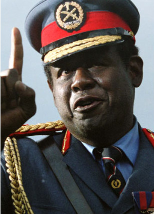 "Hollywood actor Forest Whitaker portrayed Idi Amin in ""The Last King of Scotland"""