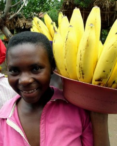 Uganda: buying bananas from this nice woman could land you in a jail cell