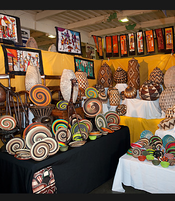 A display of beautiful African Crafts..