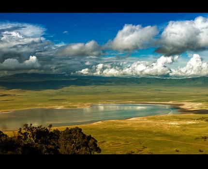 The Ngorongoro Crater in Tanzania...
