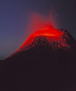 The Oldoinyo L'engai volcano