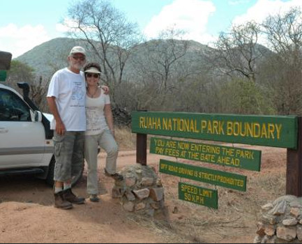 Tourists at Ruaha National Park