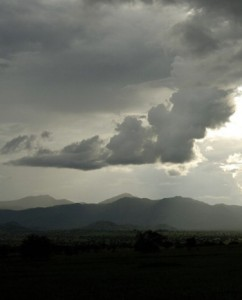 A cloudy sunset in Kidepo Valley